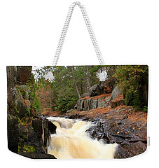 Weekender Tote Bag featuring the photograph Dave's Falls #7277 by Mark J Seefeldt