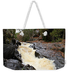 Weekender Tote Bag featuring the photograph Dave's Falls #7284 by Mark J Seefeldt
