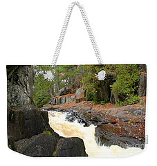 Weekender Tote Bag featuring the photograph Dave's Falls #7311 by Mark J Seefeldt