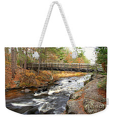Weekender Tote Bag featuring the photograph Dave's Falls #7480 by Mark J Seefeldt