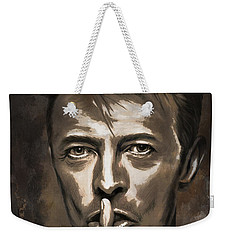 Weekender Tote Bag featuring the painting David by Andrzej Szczerski