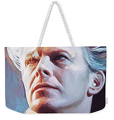 Weekender Tote Bag featuring the painting David Bowie Artwork 2 by Sheraz A