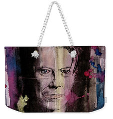 David Bowie Weekender Tote Bag by Geni Gorani
