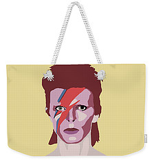 David Bowie Weekender Tote Bag by Nicole Wilson