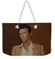 David Bowie Four Ever Weekender Tote Bag by Paul Meijering
