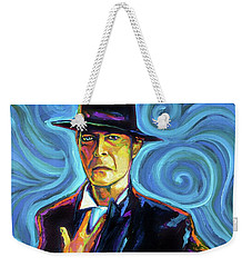 David Bowie Weekender Tote Bag by Robert Phelps