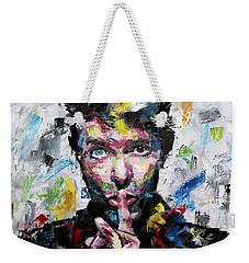 David Bowie Shh Weekender Tote Bag