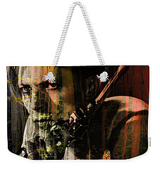 David Bowie / The Man Who Fell To Earth  Weekender Tote Bag by Elizabeth McTaggart