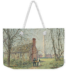 David Burns's Cottage And The Washington Monument, Washington Dc, 1892  Weekender Tote Bag