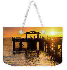 Davis Bay Pier Sunset 3 Weekender Tote Bag