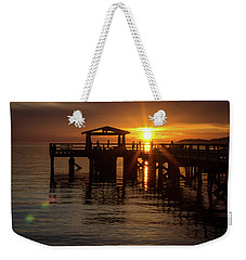 Davis Bay Pier Sunset Weekender Tote Bag