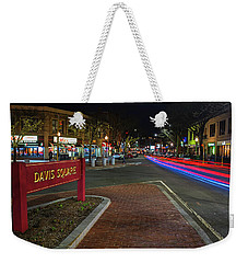 Davis Square Sign Somerville Ma Mikes Weekender Tote Bag