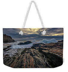 Weekender Tote Bag featuring the photograph Dawn At Bald Head Cliff by Rick Berk