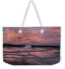 Dawn At Great Fountain Geyser Weekender Tote Bag