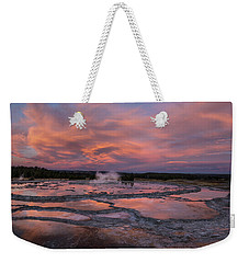 Dawn At Great Fountain Geyser Weekender Tote Bag