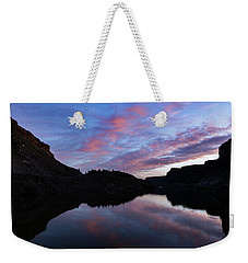 Weekender Tote Bag featuring the photograph Dawn At Lake Billy Chinook by Cat Connor