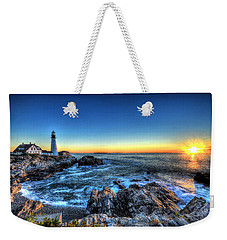 Dawn At Portland Head Lighthouse Weekender Tote Bag