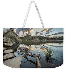Weekender Tote Bag featuring the photograph Dawn At Sylvan Lake by Adam Romanowicz