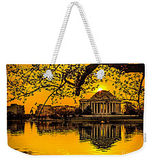 Weekender Tote Bag featuring the photograph Dawn At The Jefferson Memorial  by Nick Zelinsky