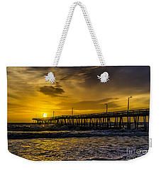 Dawn At The Virginia Pier Weekender Tote Bag