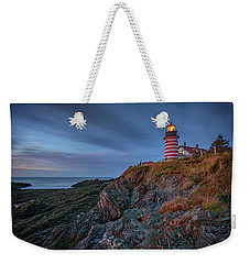 Weekender Tote Bag featuring the photograph Dawn At West Quoddy Head by Rick Berk