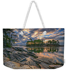 Weekender Tote Bag featuring the photograph Dawn At Wolfe's Neck Woods by Rick Berk