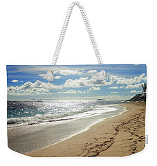 Weekender Tote Bag featuring the photograph Dawn Beach by Lars Lentz