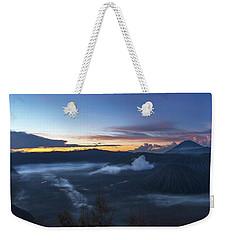 Dawn Breaking Scene Of Mt Bromo Weekender Tote Bag