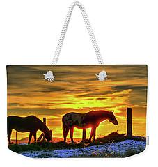 Dawn Horses Weekender Tote Bag by Fiskr Larsen
