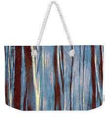 Dawn In The Winter Forest - Landscape Mood Lighting Weekender Tote Bag by Menega Sabidussi