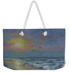 Dawn Mist - Three Gulls Weekender Tote Bag by Kathleen McDermott