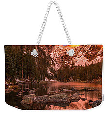 Weekender Tote Bag featuring the photograph Dawn Of Dreams Triptych Middle by Dustin LeFevre