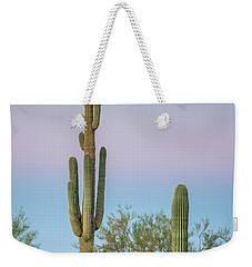 Dawn Of Saguaros Weekender Tote Bag