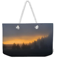 Dawn On A Misty Morning Weekender Tote Bag