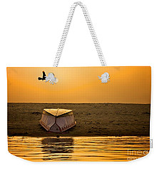 Dawn On The Ganga Weekender Tote Bag by Valerie Rosen