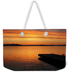 Dawn On The Water At Dusavik Weekender Tote Bag