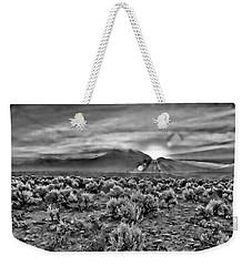 Dawn Over Magic Taos In B-w Weekender Tote Bag