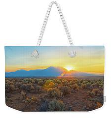 Dawn Over Magic Taos Mountain Weekender Tote Bag