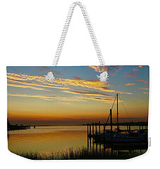 Dawn Over The Bay Weekender Tote Bag