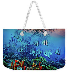 Weekender Tote Bag featuring the photograph Dawn Over The Reef by Debra and Dave Vanderlaan
