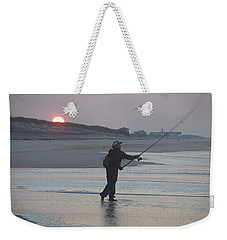 Weekender Tote Bag featuring the photograph Dawn Patrol by Newwwman