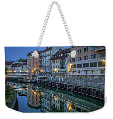 Weekender Tote Bag featuring the photograph Dawn River Reflections #3 - Slovenia by Stuart Litoff