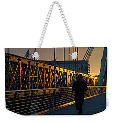 Weekender Tote Bag featuring the photograph Dawn Run by Alex Lapidus