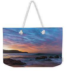 Dawn Seascape With Rocks And Clouds Weekender Tote Bag