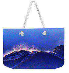 Dawn With Snow Banners Over Truchas Peaks Weekender Tote Bag by Anastasia Savage Ealy