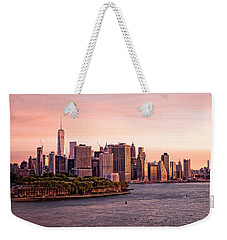 Dawn's Early Morning Light On New York City Weekender Tote Bag