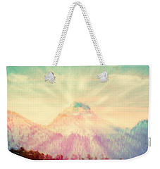 Dawn's Wonder Glow On My Mountain Muse Weekender Tote Bag