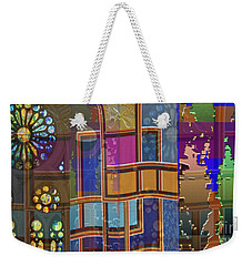 Day And Night Collage Photography Abstract Art From Church Walls Moon Hightide N Graphic Window View Weekender Tote Bag