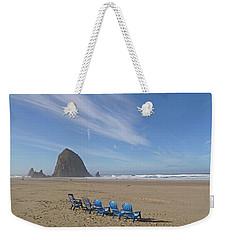 Day At Haystack Rock Weekender Tote Bag by Suzy Piatt