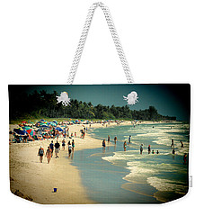 Weekender Tote Bag featuring the photograph Day At The Beach by Rosalie Scanlon